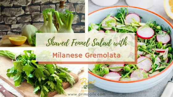 Shaved Fennel Salad with Milanese Gremolata