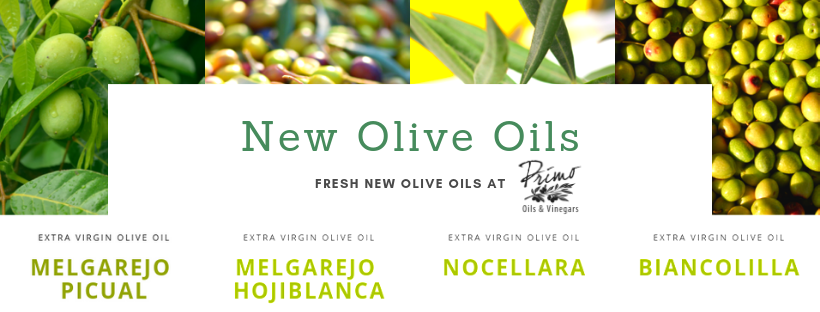 New Olive Oils at Primo Oils and Vinegars