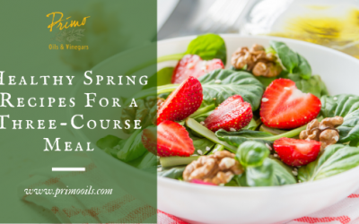 Healthy Spring Recipes For a Three-Course Meal