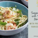 Summer Linguine with Shrimp (or Langostinos)