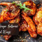 Blackberry-Ginger Balsamic Glazed Wings