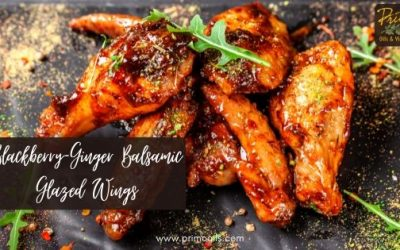 Blackberry-Ginger Balsamic Glazed Wings