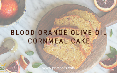 Blood Orange Olive Cornmeal Cake