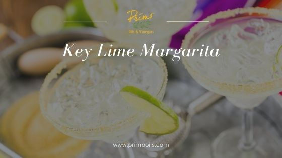 key lime margarita with olive oil