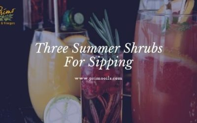 Three Balsamic Summer Shrubs For Sipping